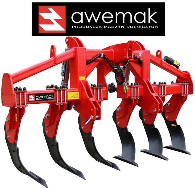 "AWEMAK GB30.6 Single-beam Subsoiler ""STRAIGHT"" tines"