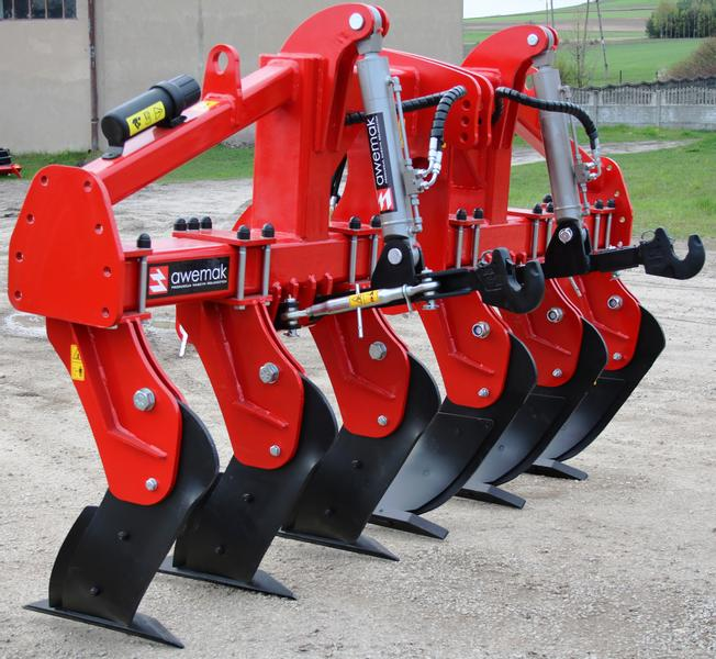 "AWEMAK GB40.8 Single-beam Subsoiler 8 ""STRAIGHT"" tines"