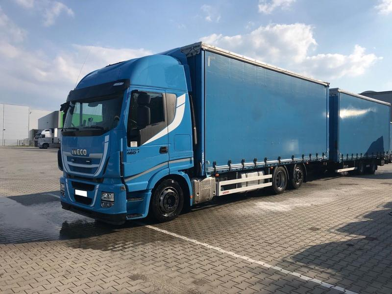 Iveco STRALIS HI-WAY 460 E6 TANDEM CURTAIN 120 m3