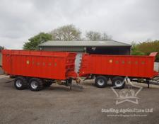Umega PI 20 Ejector Trailer with Spreader Decks
