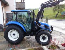 New Holland T 4.55 mit Quicke Frontlader 4Zylinder